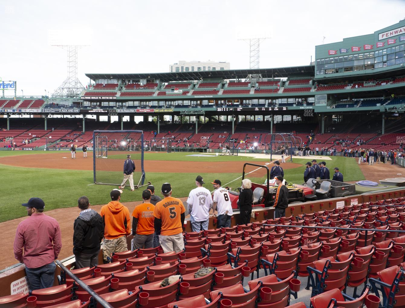 Boston Red Sox at Fenway Park Field Box 81 View