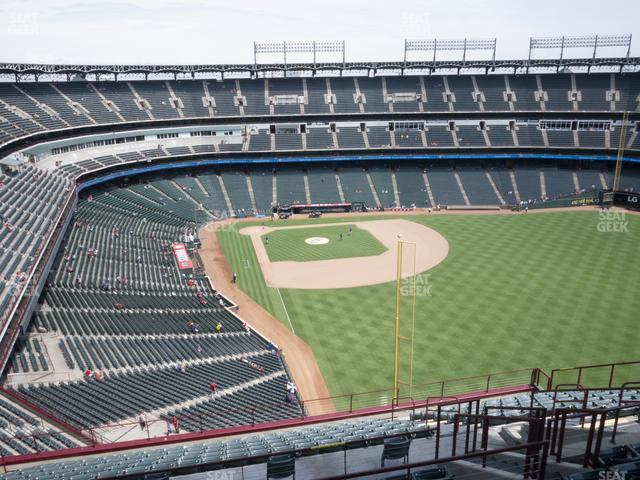 Globe Life Park Section 344 view