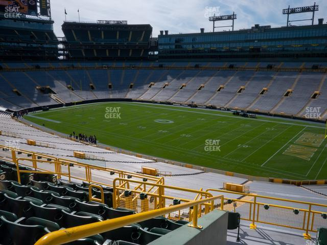 Lambeau Field Section 411 view