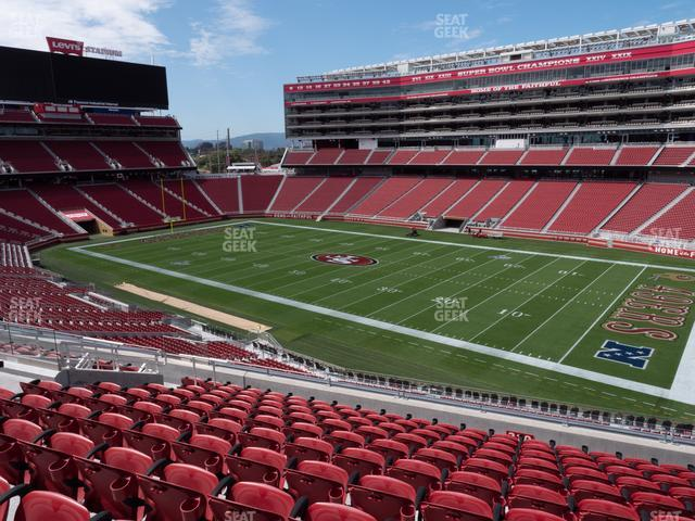 Levi's Stadium Section 210 view