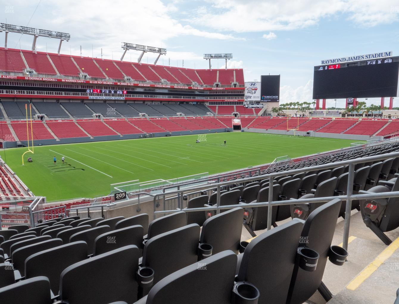 Tampa Bay Buccaneers at Raymond James Stadium Section 205 View