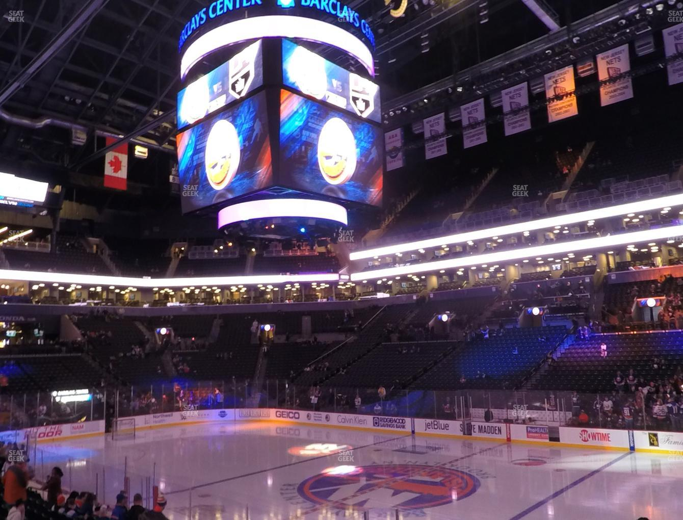 New York Islanders at Barclays Center Section 4 View