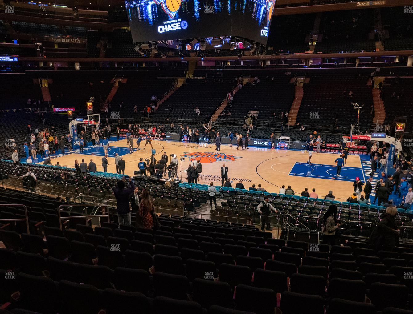 New York Knicks at Madison Square Garden Section 118 View