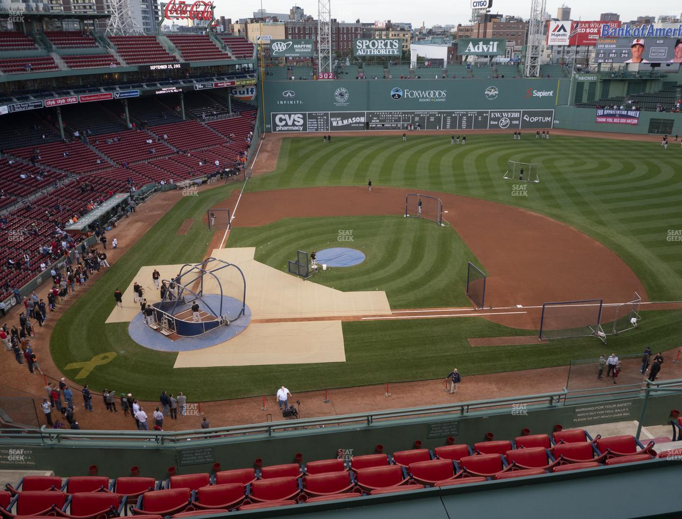 Boston Red Sox at Fenway Park Pavilion Box 3 View