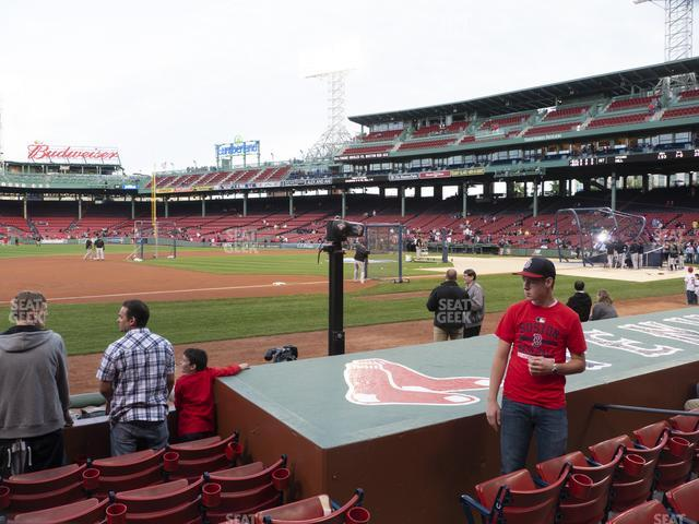 Fenway Park Field Box 69 view