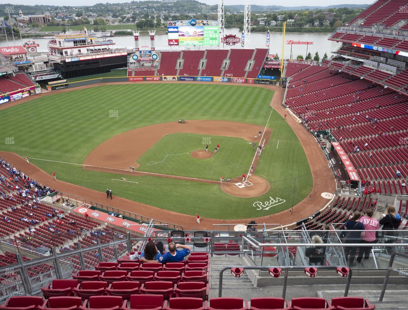 Cincinnati Reds at Great American Ball Park Section 520 View