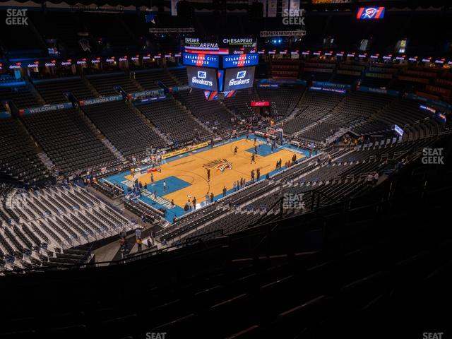 Chesapeake Energy Arena Section 312 view