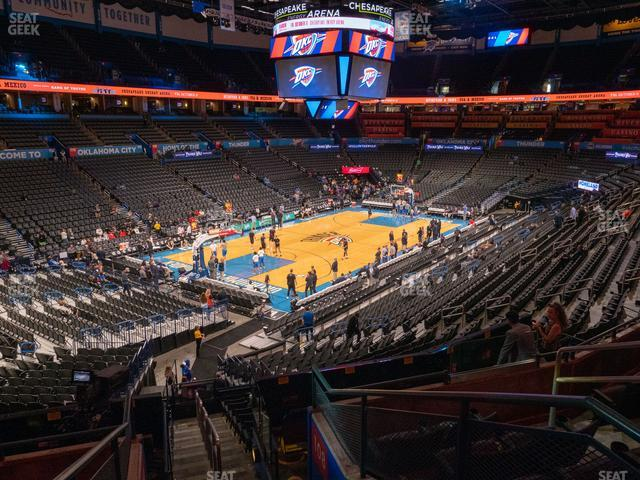 Chesapeake Energy Arena Section 212 view