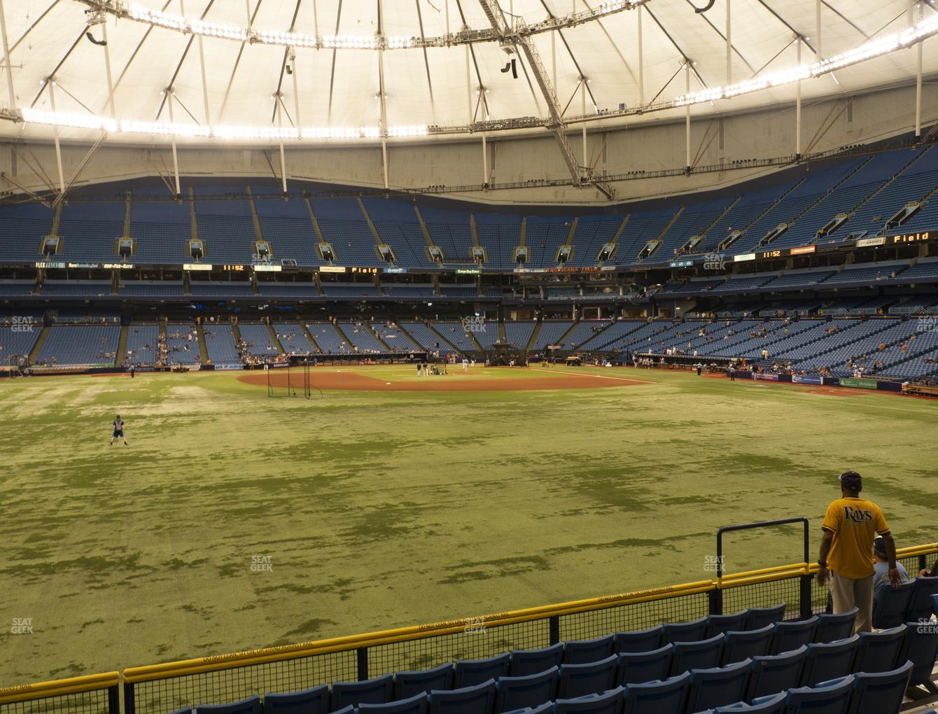 Tampa Bay Rays at Tropicana Field Section 147 View