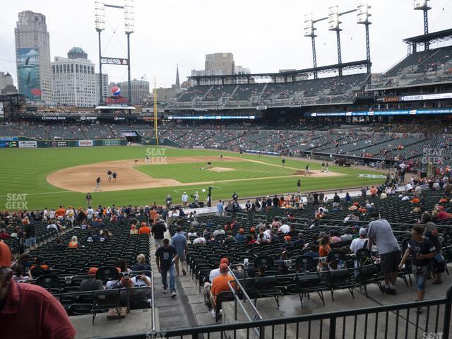 Comerica Park Section 136 view