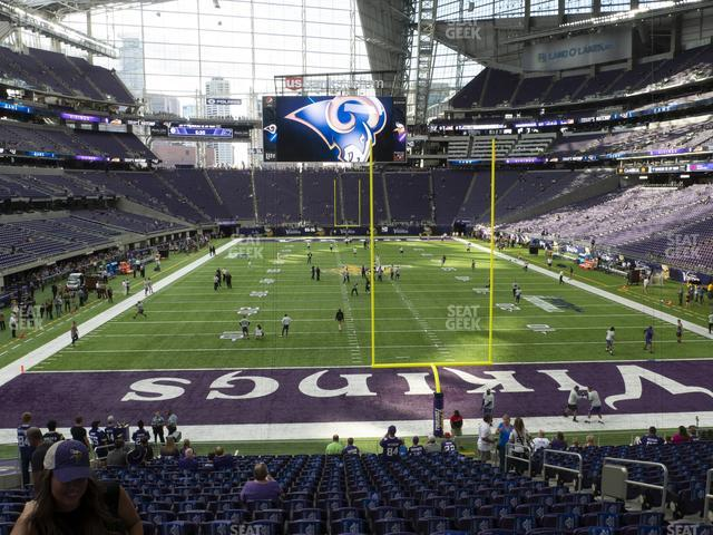 U.S. Bank Stadium Section 120 view