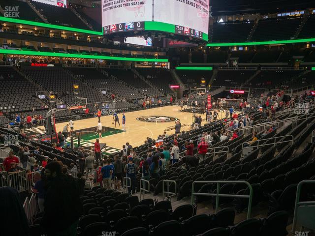 State Farm Arena Section 122 view