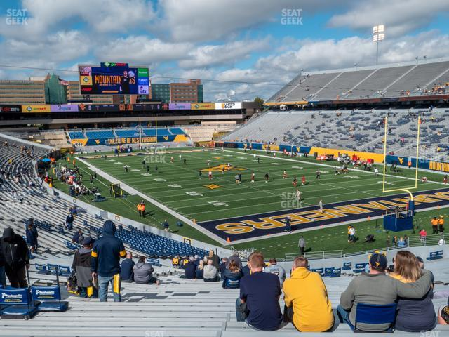 Mountaineer Field at Milan Puskar Stadium Section 132 view