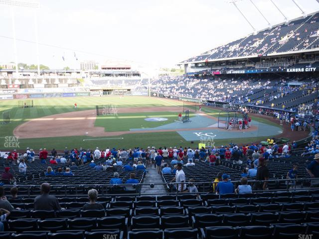 Kauffman Stadium Section 221 view