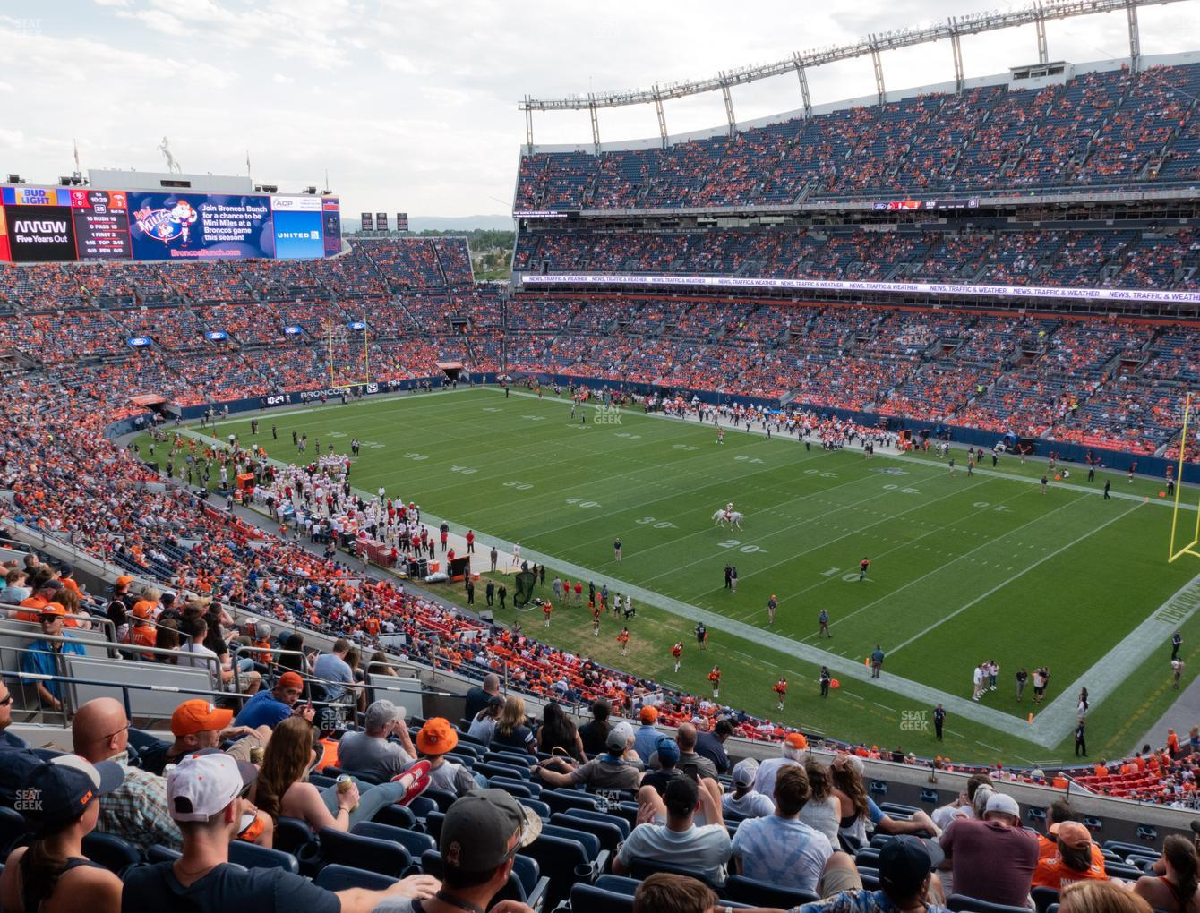 Denver Broncos at Empower FIeld at Mile High Section 330 View