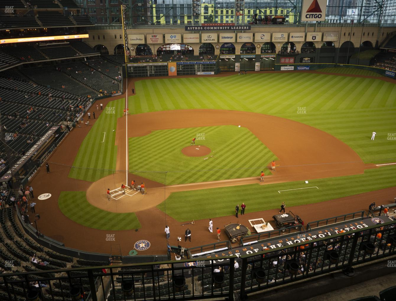 Houston Astros at Minute Maid Park Section 323 View