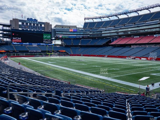 Gillette Stadium Section 103 view