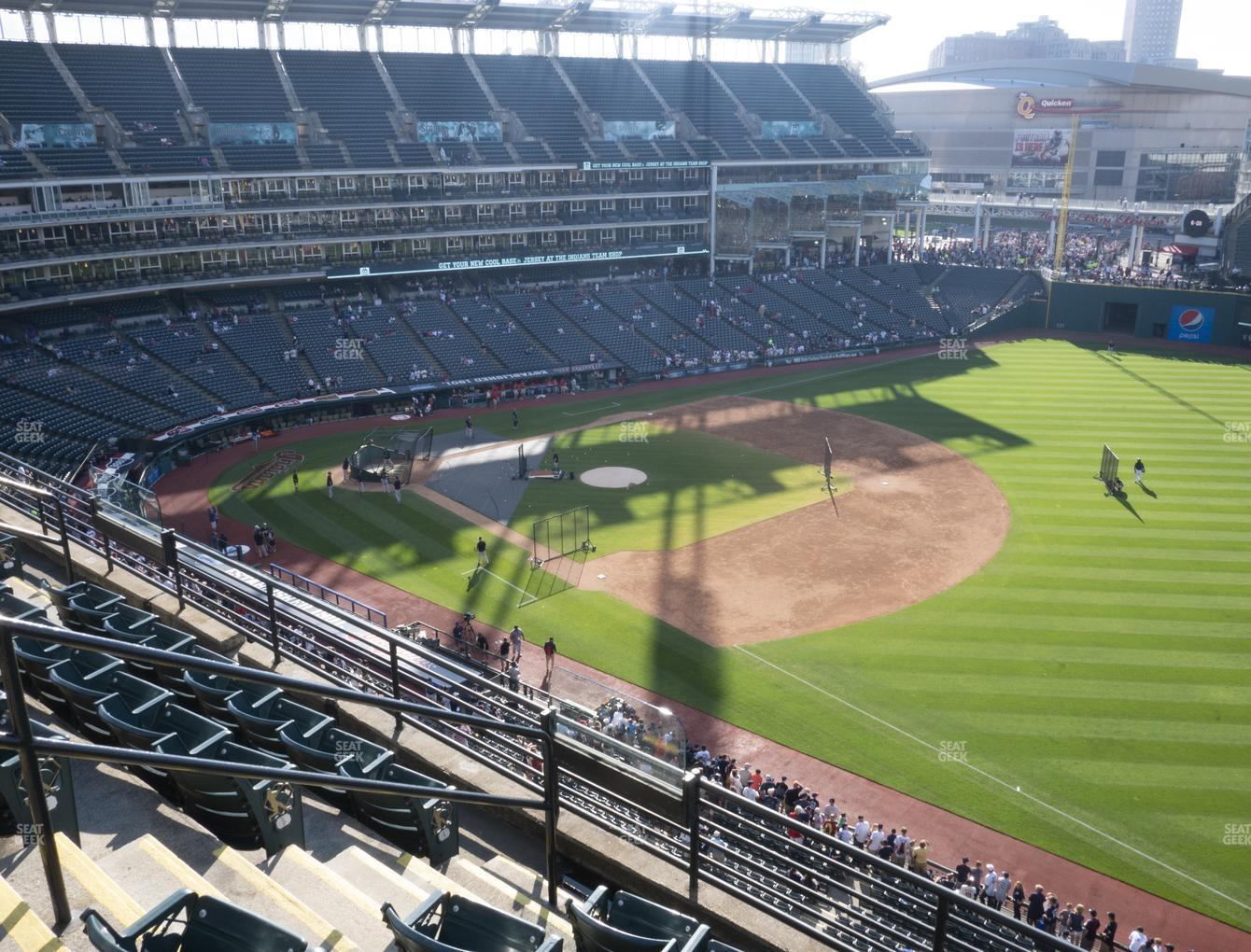 Cleveland Indians at Progressive Field Section 430 View