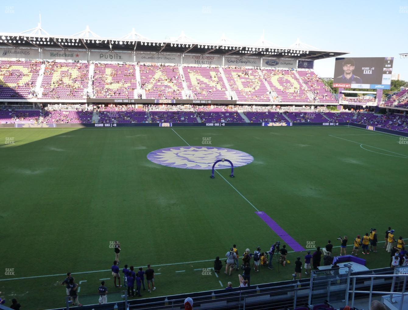 Orlando City SC at Exploria Stadium Section 116 View