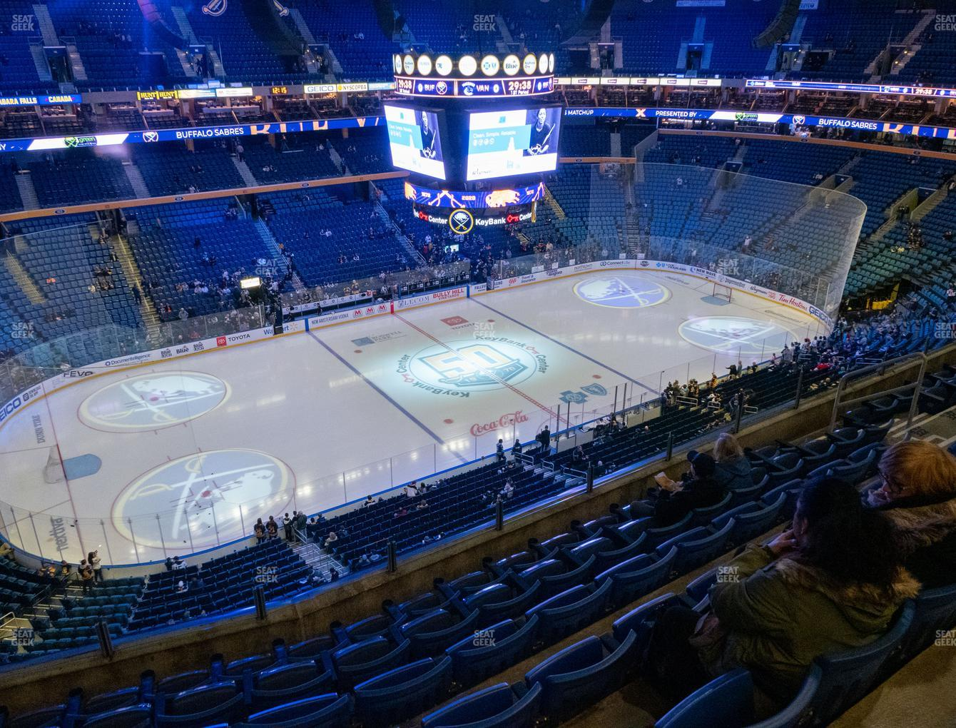 Buffalo Sabres at KeyBank Center Section 322 View