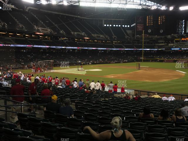 Chase Field Section 115 view