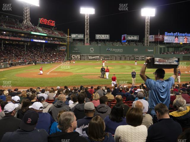 Fenway Park Loge Box 120 view