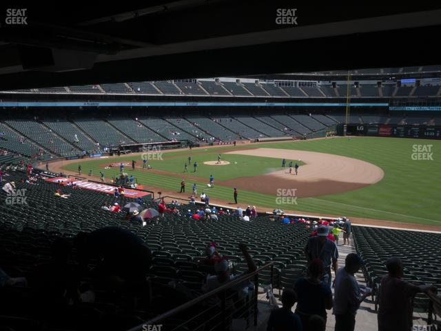 Globe Life Park Section 138 view