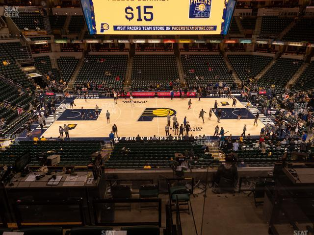 Bankers Life Fieldhouse Section 117 view