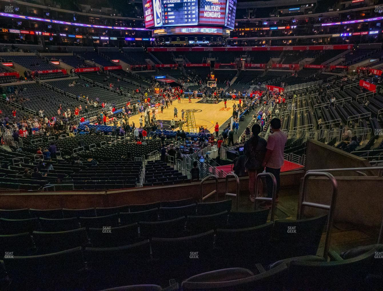 Los Angeles Lakers at Staples Center Section 215 View