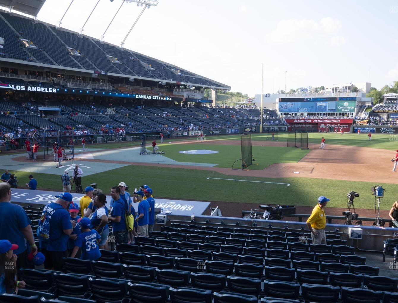 Kansas City Royals at Kauffman Stadium Section 135 View