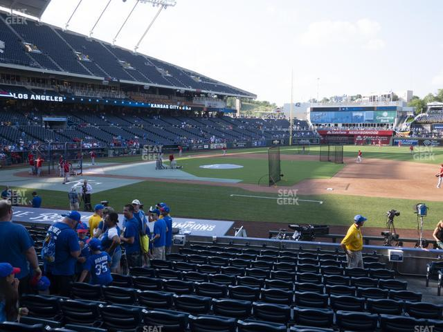 Kauffman Stadium Section 135 view