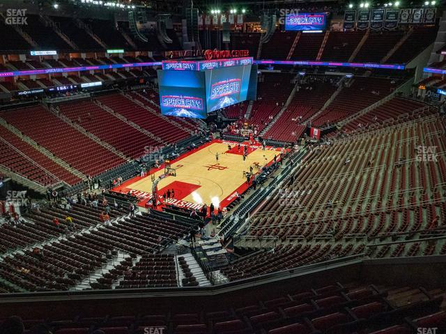 Toyota Center Section 432 view