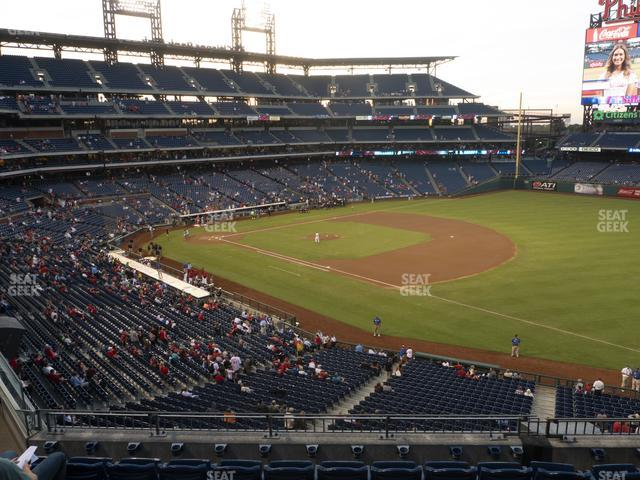 Citizens Bank Park Section 210 view