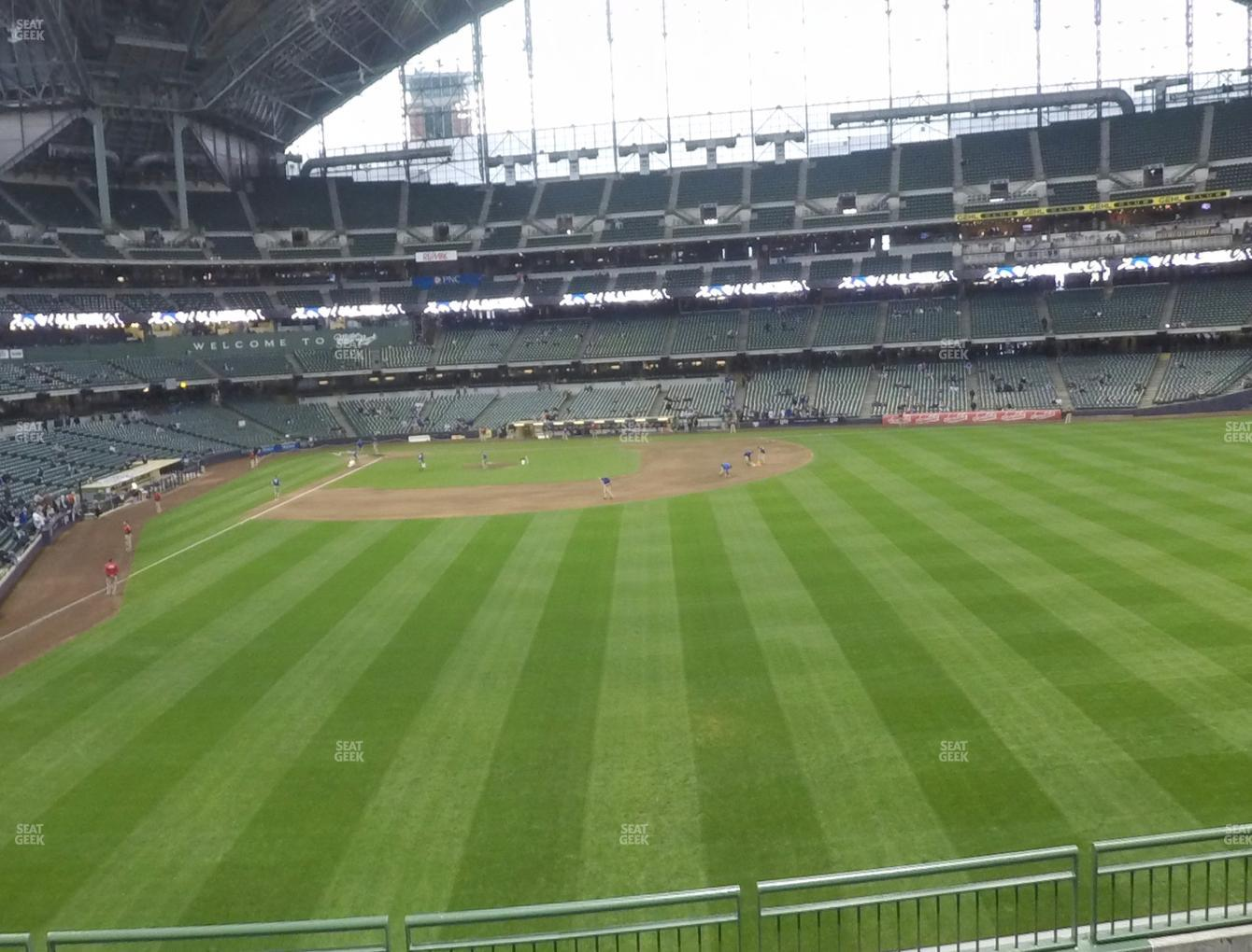 Concert at Miller Park Section 203 View