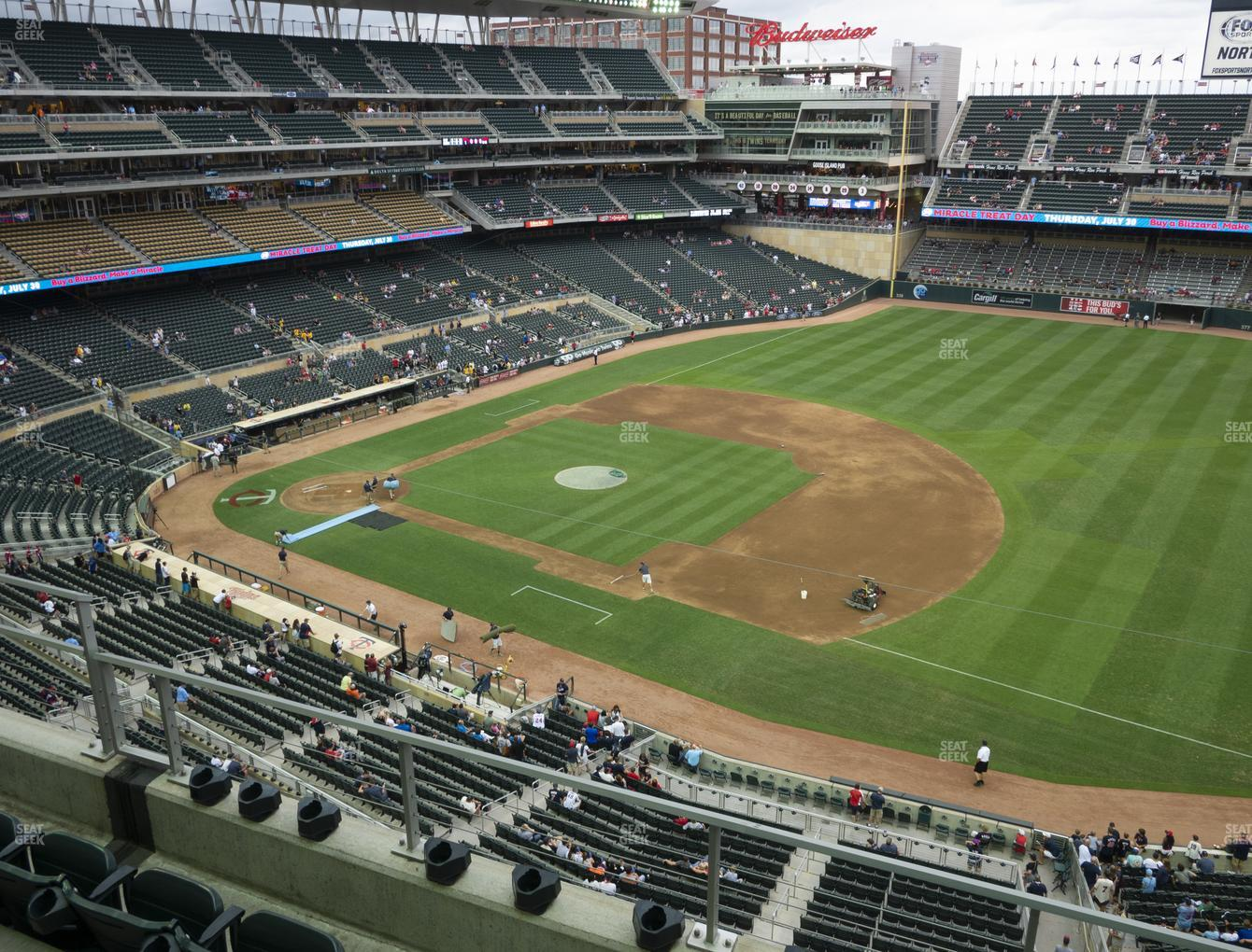 Minnesota Twins at Target Field Section 206 View