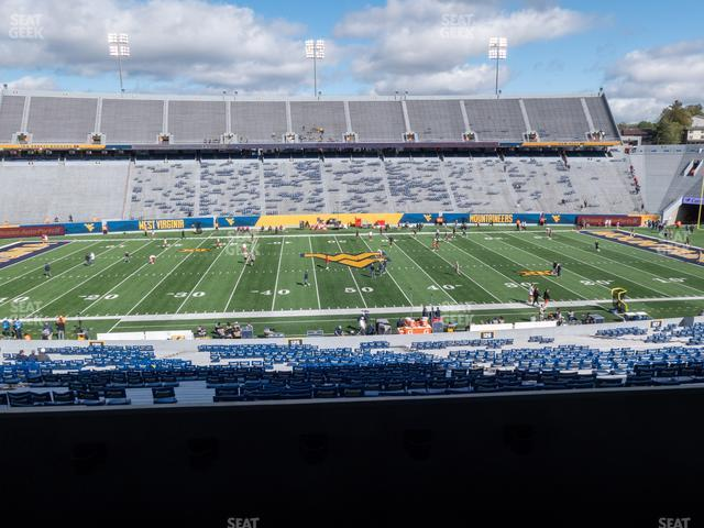 Mountaineer Field at Milan Puskar Stadium Field Box 56 view