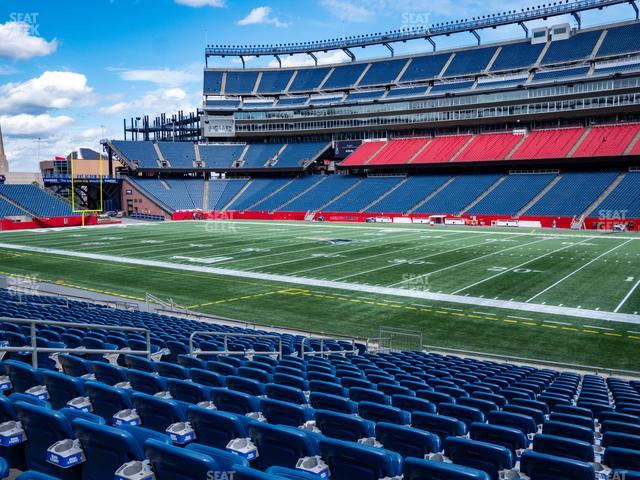 Gillette Stadium Section 128 view