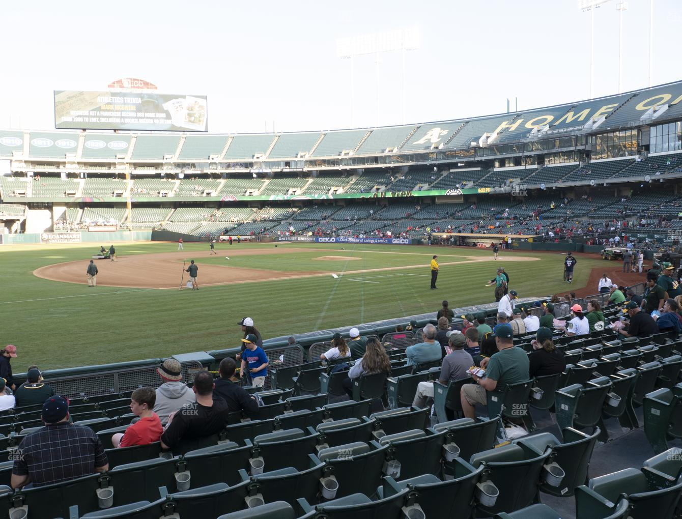 Oakland Athletics at Oakland-Alameda County Coliseum Section 125 View