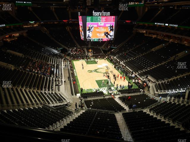 Fiserv Forum Section 202 view