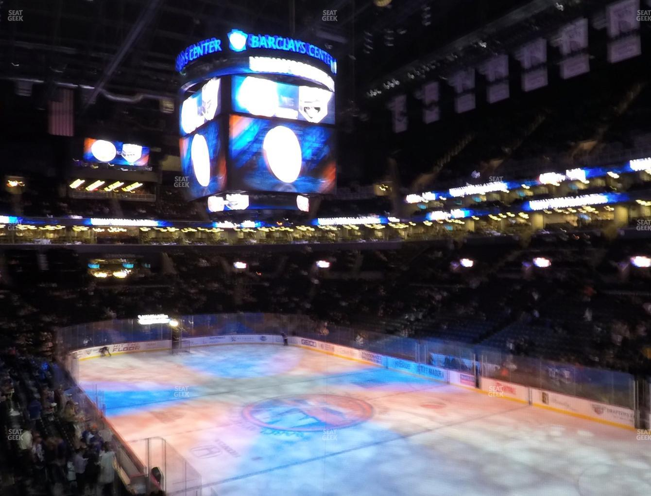 New York Islanders at Barclays Center Section 102 View
