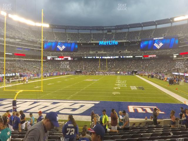 MetLife Stadium Section 124 view