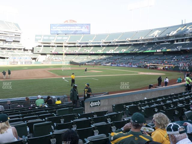 Oakland-Alameda County Coliseum Section 123 view