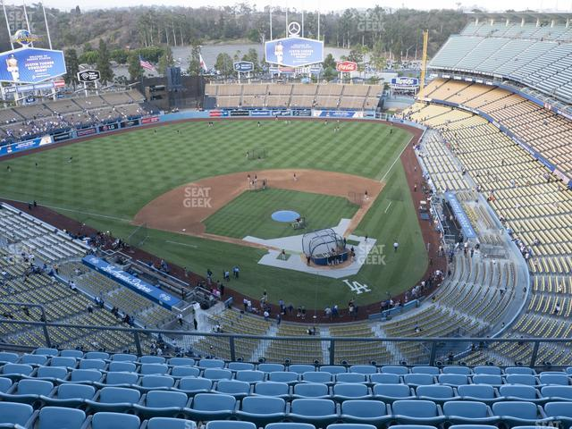 Dodger Stadium Section Top Deck 7 view