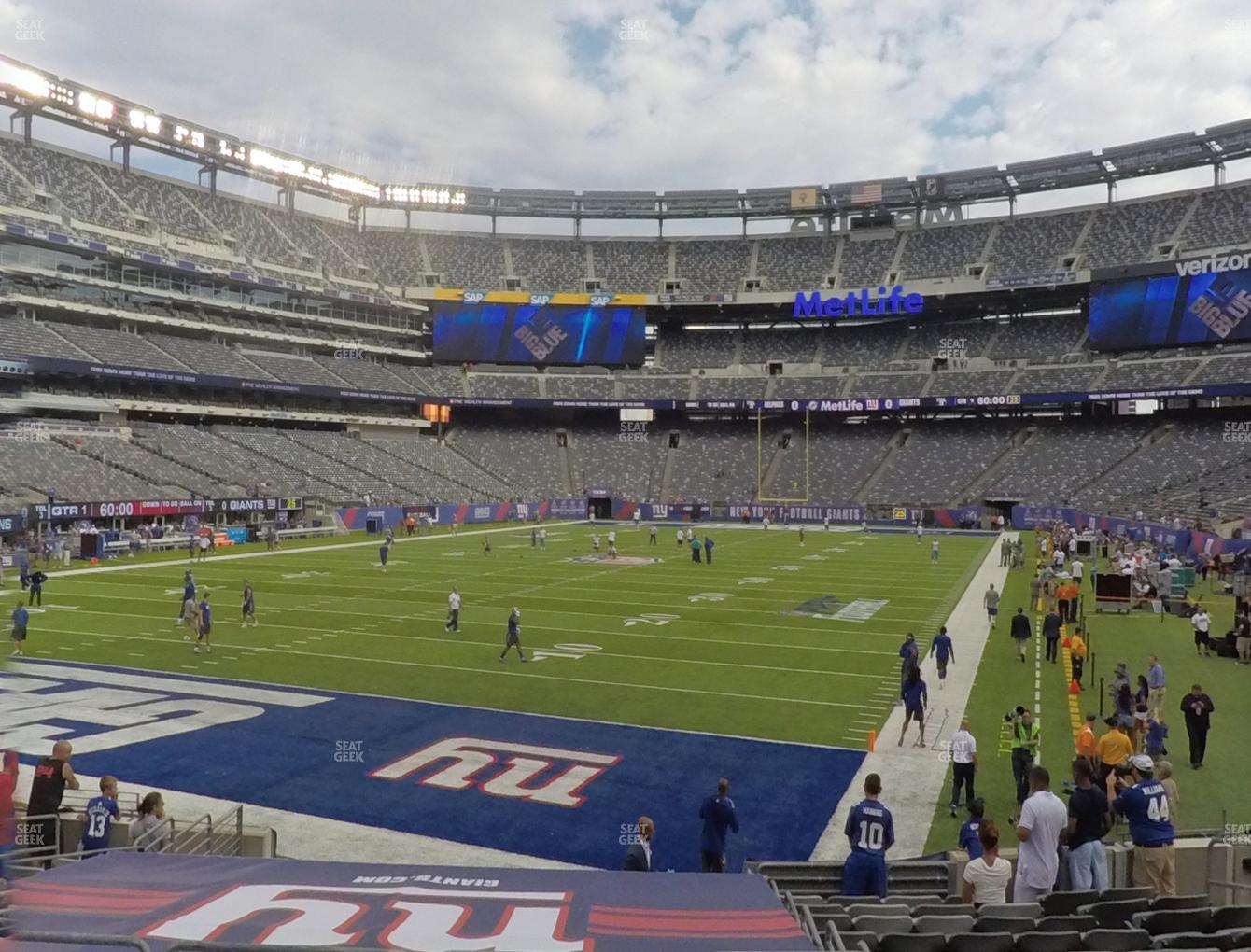 New York Jets at MetLife Stadium Section 148 View