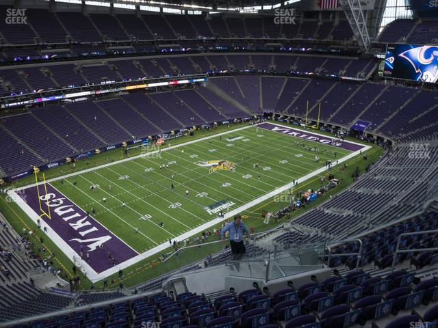 U.S. Bank Stadium Section 347 view