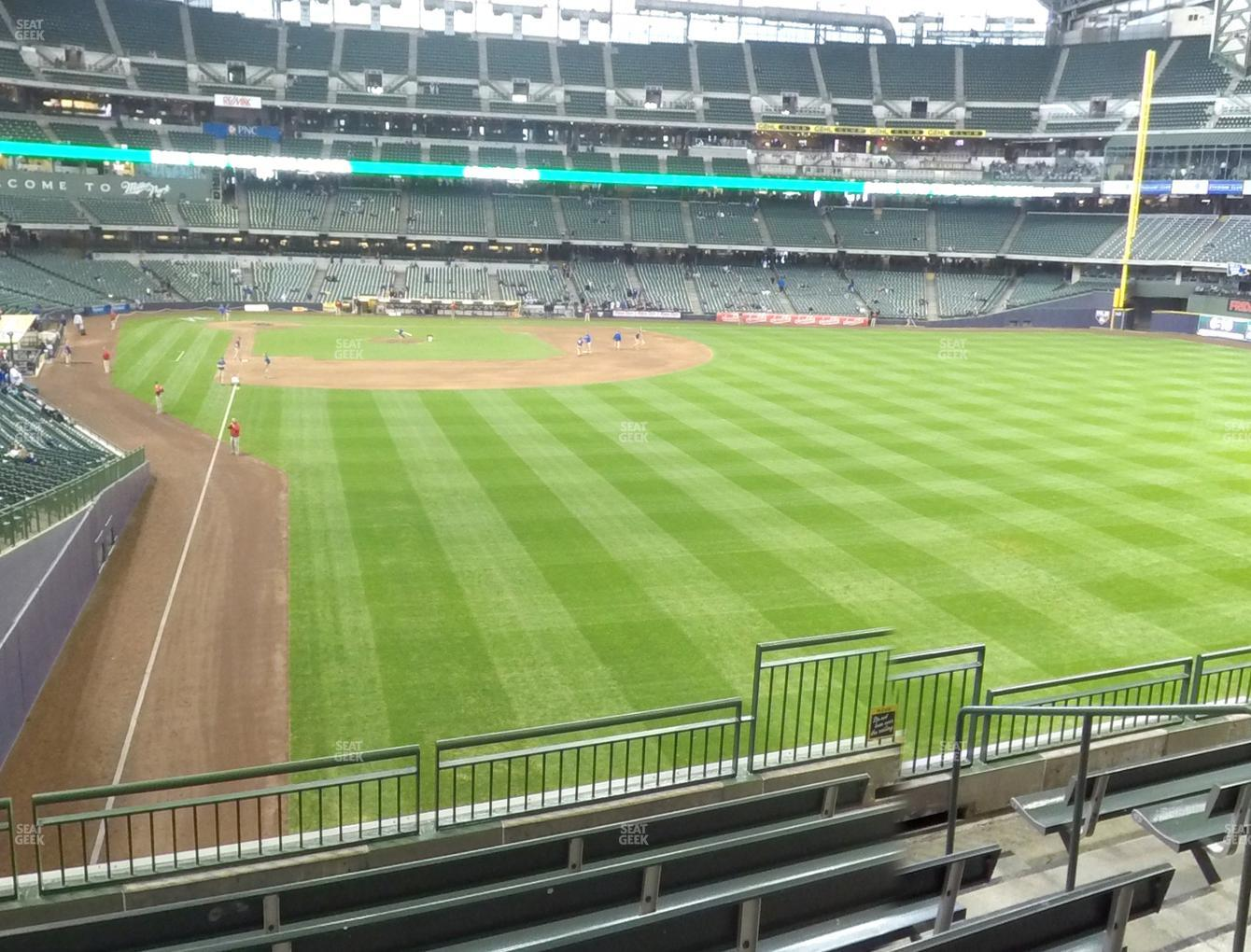Milwaukee Brewers at Miller Park Section 205 View