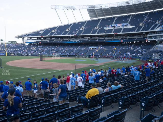 Kauffman Stadium Section 114 view