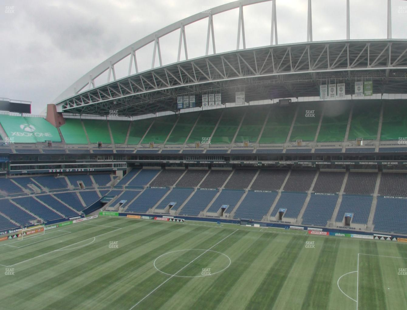 Seattle Sounders FC at CenturyLink Field Lower 306 View
