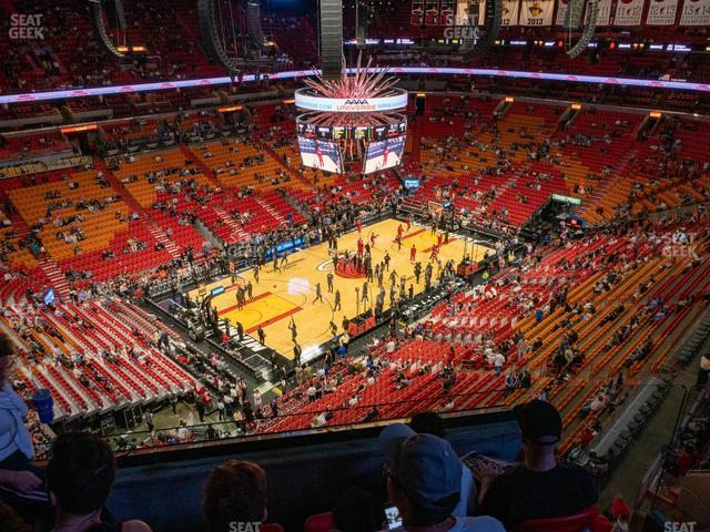 American Airlines Arena Section 401 view
