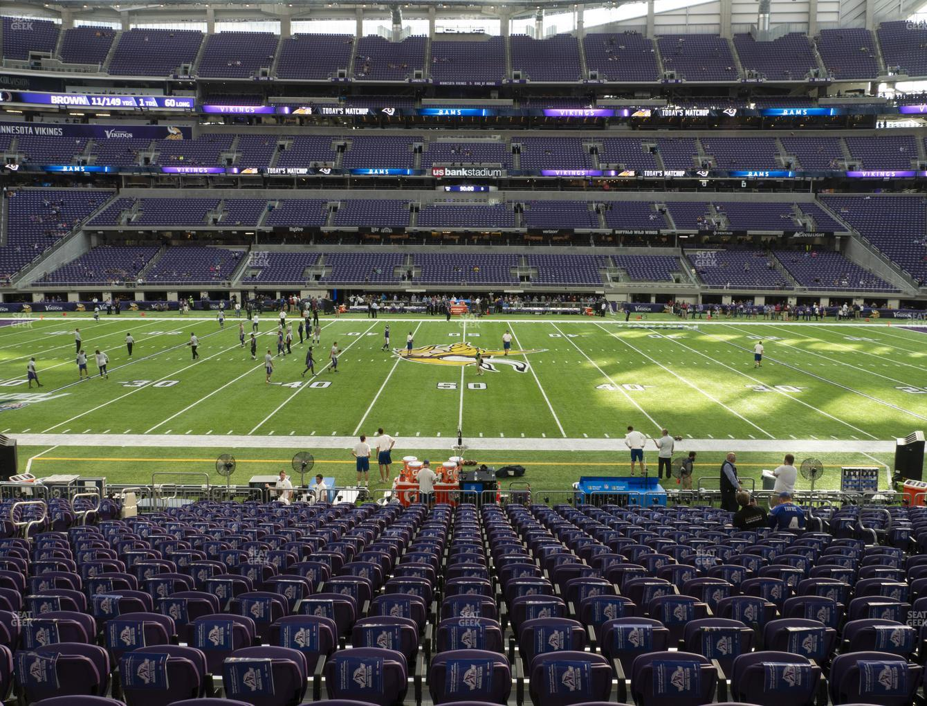 Minnesota Vikings at U.S. Bank Stadium Section V 3 View